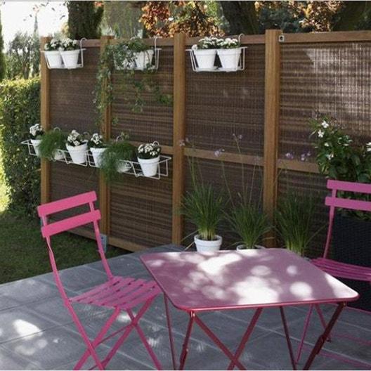 Salon de jardin Bistro FERMOB rose, 2 personnes | Leroy Merlin