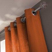 Rideau Roma, orange, l.140 x H.240 cm INSPIRE