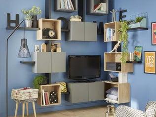 La télévision intégrée dans la pièce