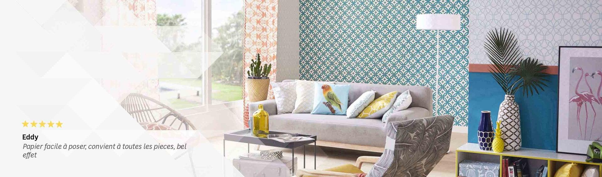 Papier peint frise et fibre de verre tapisserie for Image murale a tapisser