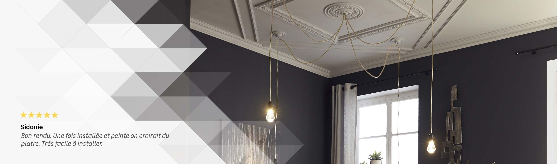 Plinthe plafond moulure cl x cm de moulure de plafond for Miroir au plafond