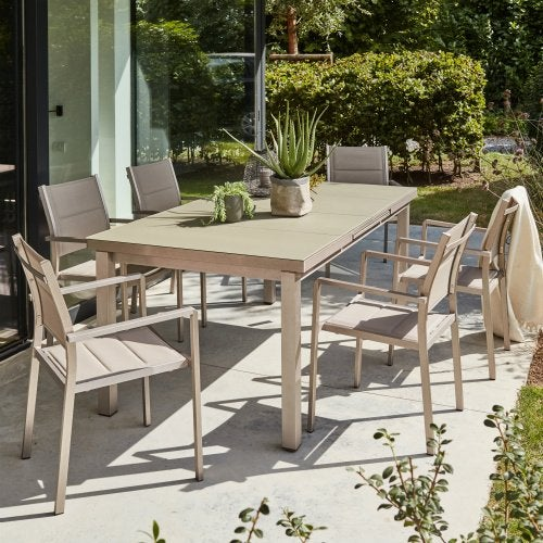 Salon de jardin table et chaise mobilier de jardin for Ensemble salon exterieur