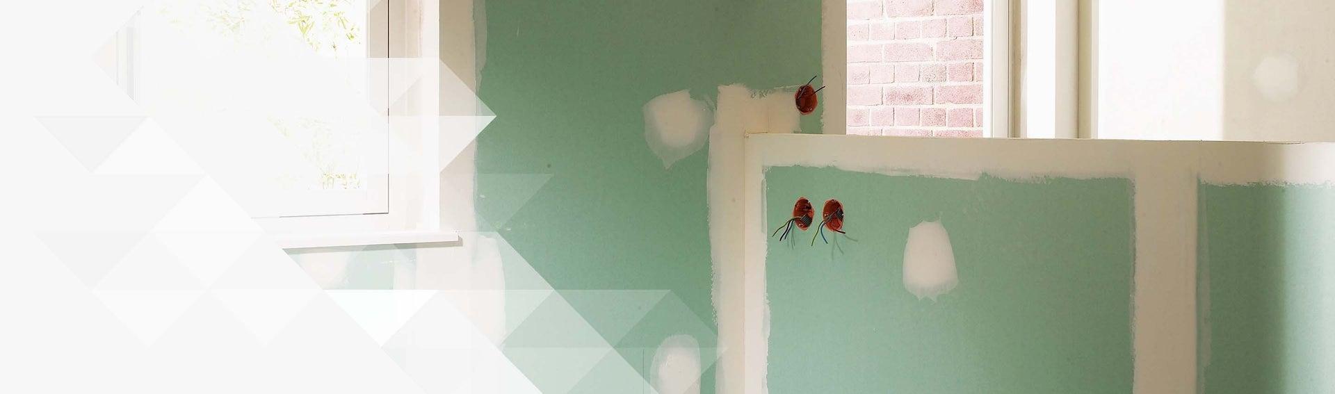 Cloison Et Plafond Plaque De Pl Tre Ossature M Tallique Faux  # Deco En Placo Platre Dun Porte Tele