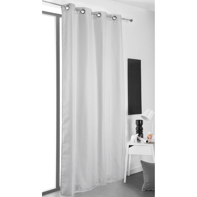 rideau tamisant columbia gris clair et blanc x h. Black Bedroom Furniture Sets. Home Design Ideas