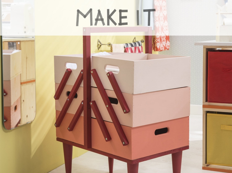 DIY : Fabriquer une boîte à couture pastel