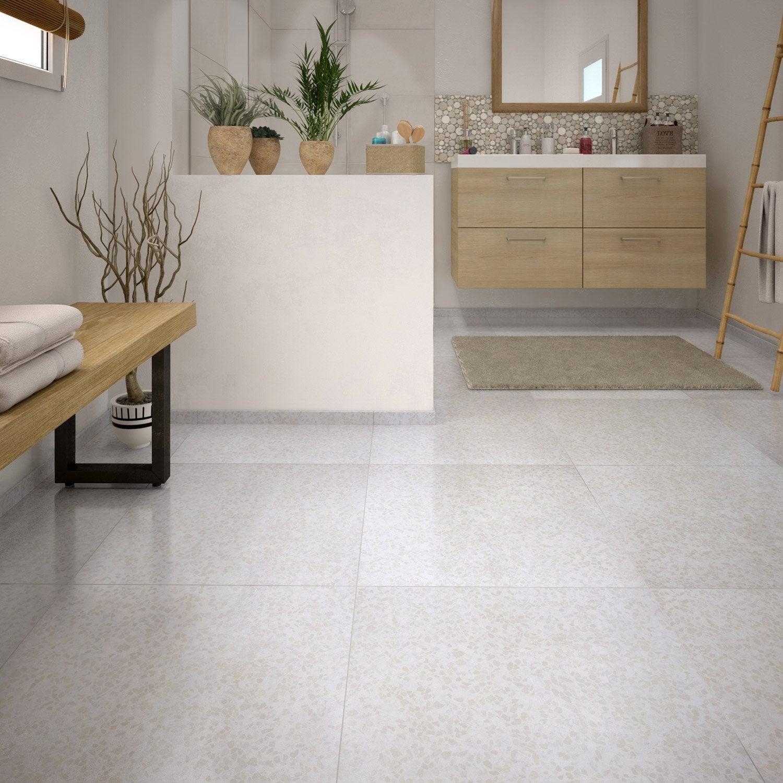 Bon Carrelage Sol Et Mur Blanc Effet Marbre Palazzio L.60 X L.60 Cm