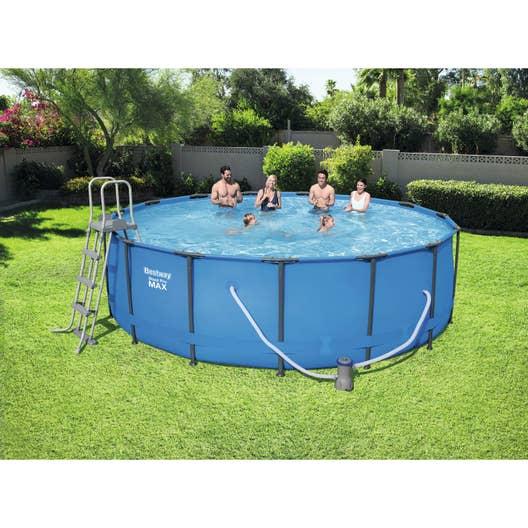 Piscine hors sol tubulaire 56438 bestway diam l 4 for Best way piscine