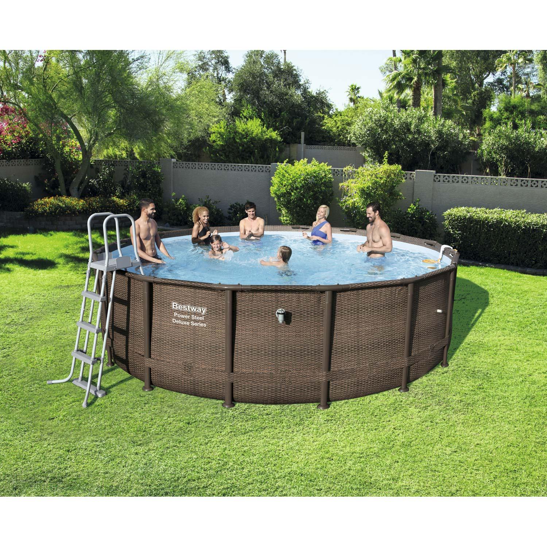 Piscine hors sol tubulaire 56666 bestway diam l 4 for Best way piscine