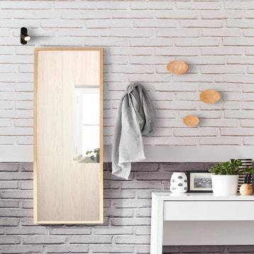 Miroir Milo INSPIRE Chene L30 X H120 Cm
