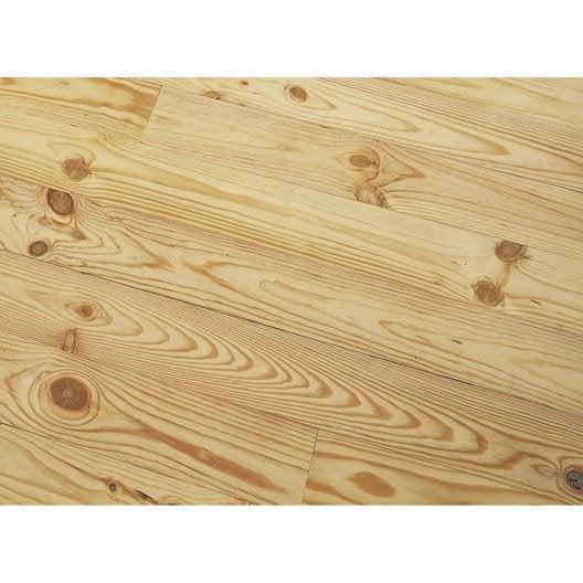 Plancher brut en pin maritime, long. 200cm x larg. 14.5cm x Ep. 21mm
