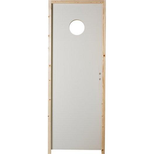 Bloc porte isoplane vitr e poussant gauche 204 x 83 cm for Porte interieure vitree 83 cm