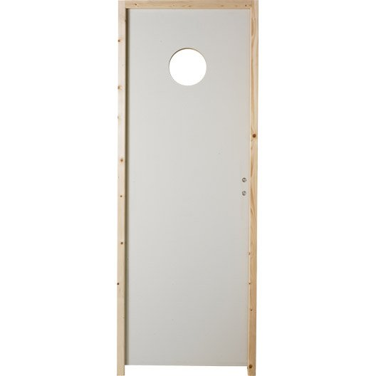 Bloc porte isoplane vitr e poussant gauche 204 x 83 cm for Dimension bloc porte 83