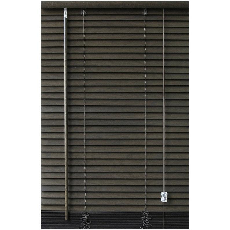 Store vénitien bois, wengé, l.50 x H.130 cm