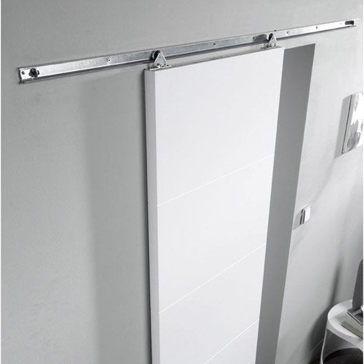 Rail coulissant salsa pour porte de largeur 93 cm maximum for Porte 93 cm castorama