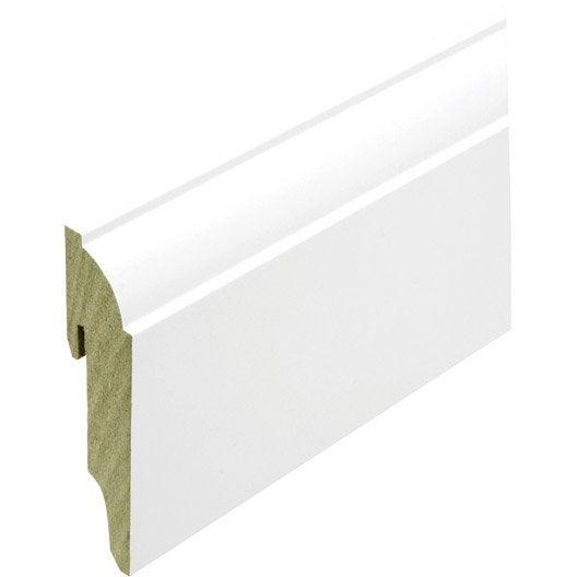 Plinthe style en mdf brut blanc brillant 80x19mm long - Plinthe pvc blanc ...