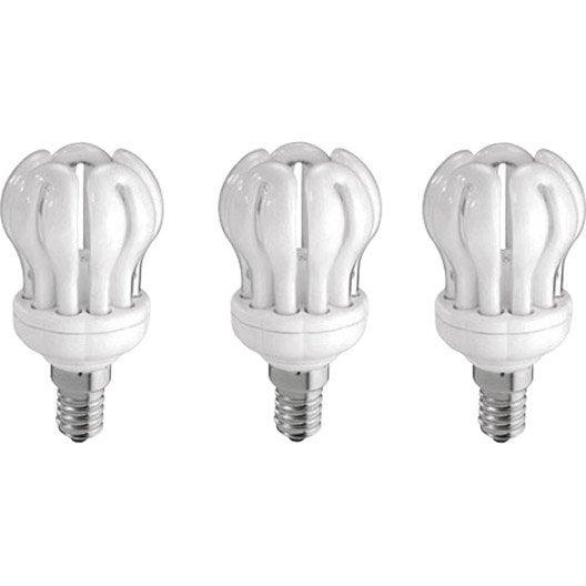 ampoule lotus fluorescente 14w 741lm quiv 60w e14. Black Bedroom Furniture Sets. Home Design Ideas