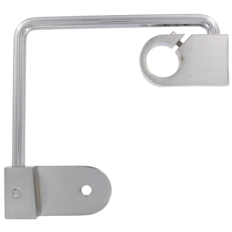 Support sans perçage tringle à rideau Ib+, 25 mm chromé mat IB+ ...