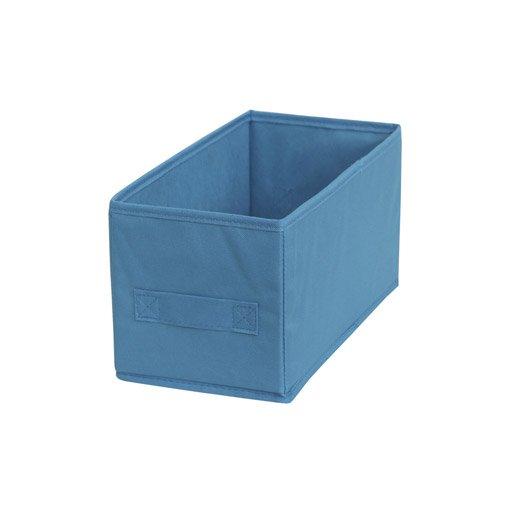 panier de rangement multikaz bleu h.15 x l.15 x p.31 cm | leroy merlin