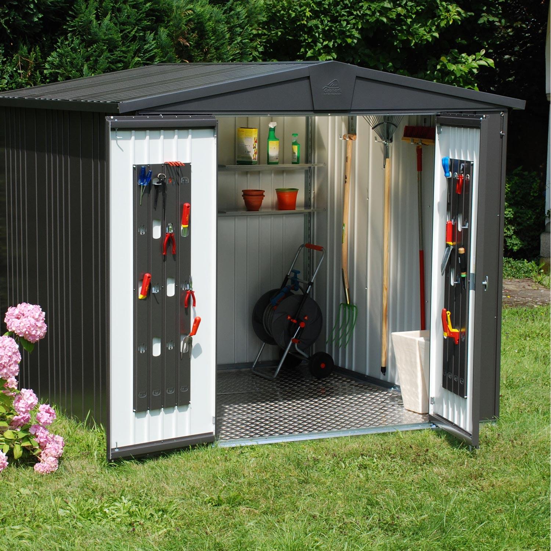 Abri de jardin acier Europa t5 Ep.0.53 mm, 6.53 m²   Leroy Merlin