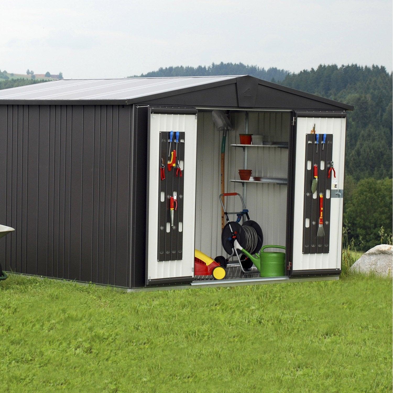 Abri de jardin métal Europa t7, 8.64 m² Ep.0.53 mm | Leroy Merlin