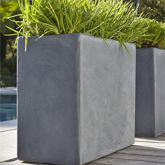 jardini re fibre x x cm gris leroy merlin. Black Bedroom Furniture Sets. Home Design Ideas