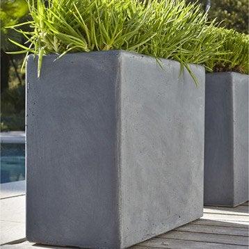 Jardini re plastique terre cuite fibre leroy merlin - Jardinieres fibre de terre exterieur ...