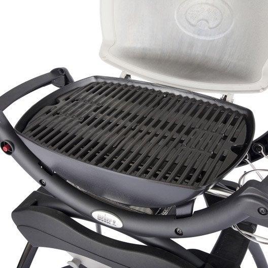 barbecue au gaz weber q1000 1 br leurs titanium leroy merlin. Black Bedroom Furniture Sets. Home Design Ideas