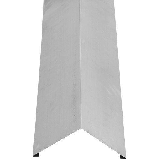 Faîtage simple 2 pinces LMC VIRANO gris, l.333 mm x L.2 m
