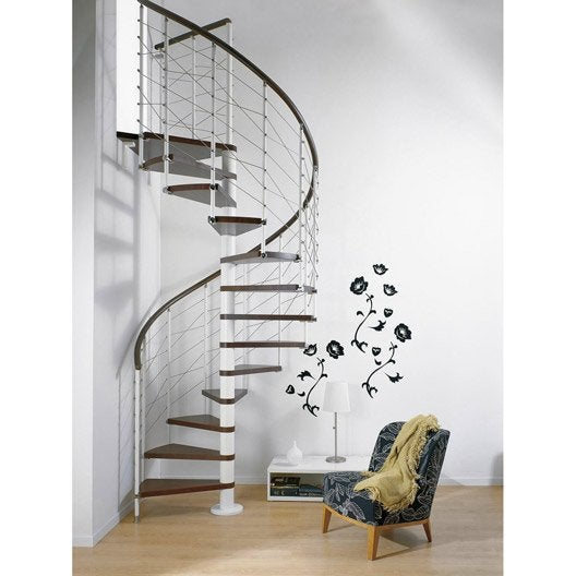Escalier ring line pixima colima on rond en bois et m tal 13 marches leroy merlin for Peinture escalier bois v