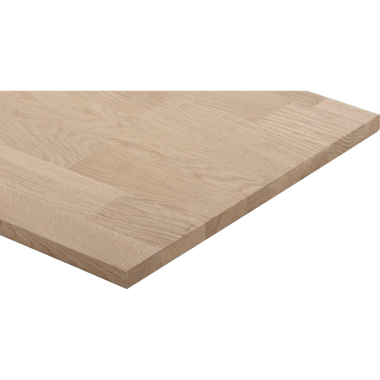 Tablette Ch Ne Lamell Coll Basic L 200 X L 40cm P 1 8cm  ~ Planche De Bois Brut Leroy Merlin
