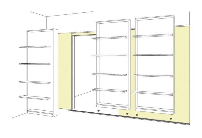 etagere coulissante horizontale best andrew james tagre pices de niveaux fixer au mur ou dans. Black Bedroom Furniture Sets. Home Design Ideas