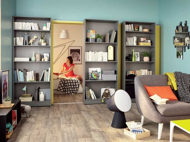 comment r aliser des portes biblioth ques coulissantes leroy merlin. Black Bedroom Furniture Sets. Home Design Ideas