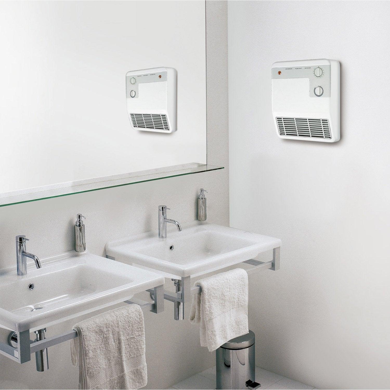 Radiateur Soufflant Salle De Bain Fixe électrique AURORA Sbe - Radiateur electrique salle de bain soufflant