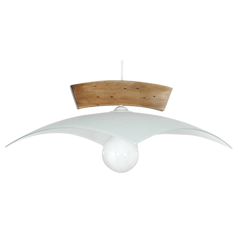suspension e27 nature cintr bois naturel 1 x 75 w lussiol leroy merlin. Black Bedroom Furniture Sets. Home Design Ideas