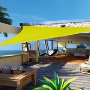 Voile d'ombrage triangle vert anis L.300 x l.300 cm