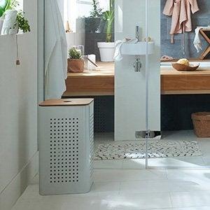 Rangement de salle de bains salle de bains leroy merlin for Rangement salle de bain design