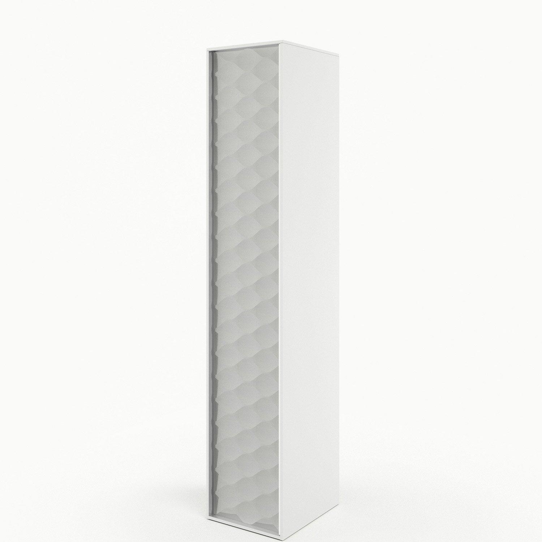 Colonne Neo Leroy Merlin colonne de salle de bains l.30 x h.154 x p.35 cm, blanc mineral, neo frame