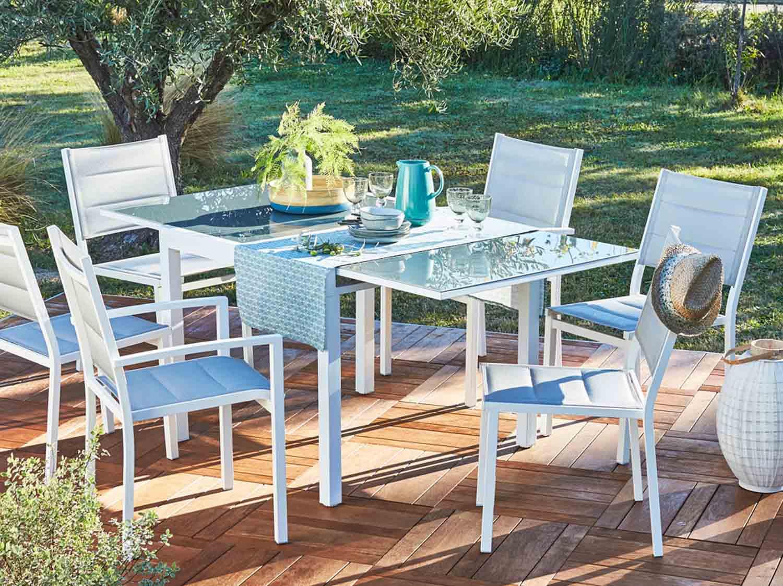 salon de jardin table et chaise leroy merlin. Black Bedroom Furniture Sets. Home Design Ideas