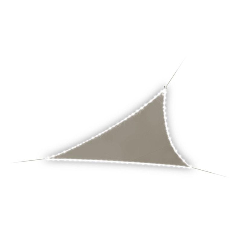 Voile Dombrage Triangulaire Avec Leds Solaires Vsl360 Taupe L360 X L360 Cm
