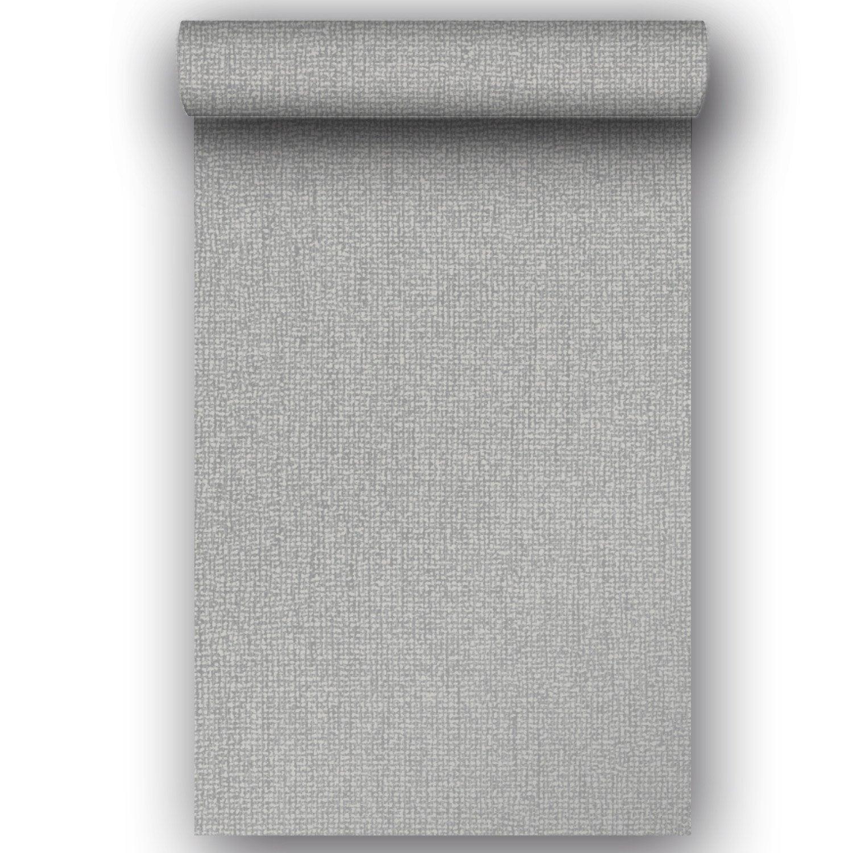 Papier peint vinyle expansé sur intissé Uni Santiago gris