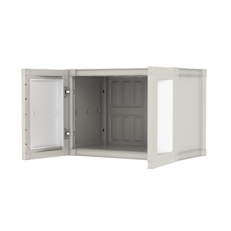 Armoire Murale Pour Chambre armoire murale plastique 1 étagère spaceo modulize, l.65 x h.95 x p.40 cm