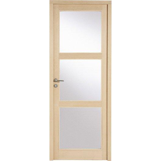 Bloc porte montr al artens vitrer poussant gauche 204 for Dimension bloc porte 83