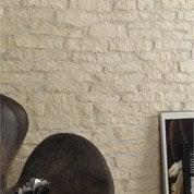 Plaquette de parement Mercurey 1 en plâtre, blanc