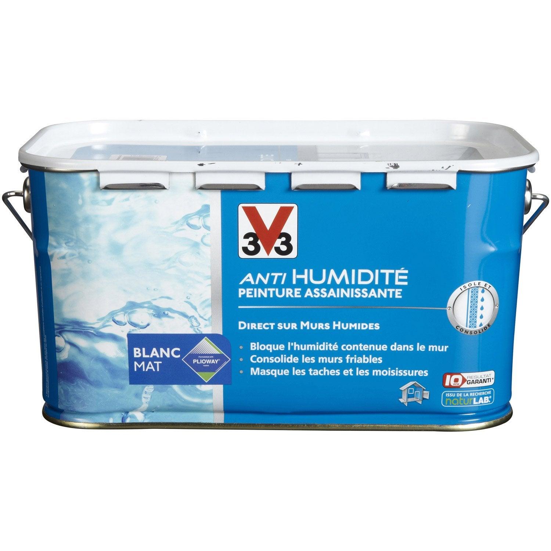 Peinture Antihumidité V Blanc L Leroy Merlin - Peinture pour salle de bain anti humidite