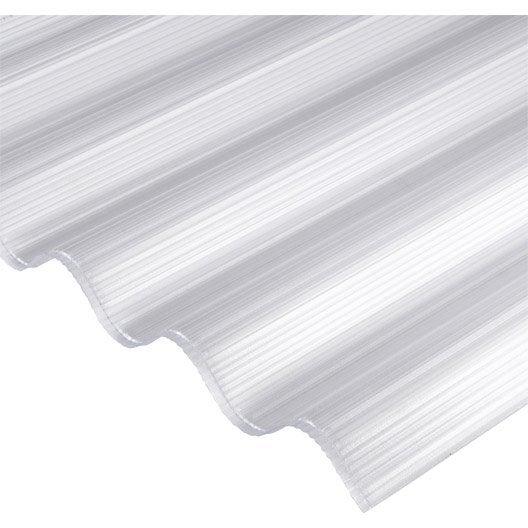 Plaque polycarbonate alv olaire 6mm clair x sunclear leroy me - Plaques polycarbonate leroy merlin ...