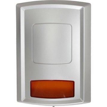 Sirène extérieure avec flash  pour alarme maison EVOLOGY gris