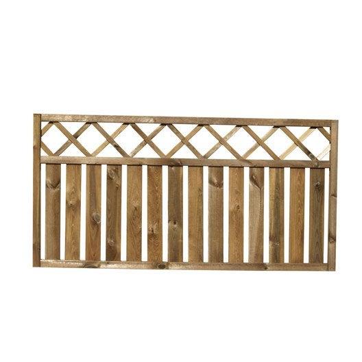 barri re bois merens naturel x cm leroy merlin. Black Bedroom Furniture Sets. Home Design Ideas