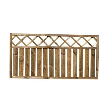 Barri re bois panneau barri re et palissade bois composite leroy merlin for Barriere de jardin bois
