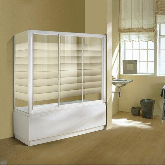 pare baignoire 1 volet verre de s curit 4 mm s rigraphi. Black Bedroom Furniture Sets. Home Design Ideas