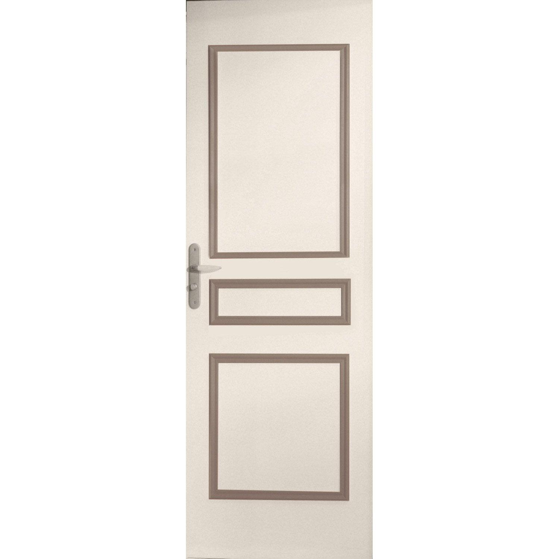 Décor De Porte De Panneaux Assemblés Traverse Droite Bois - Panneau habillage porte interieur